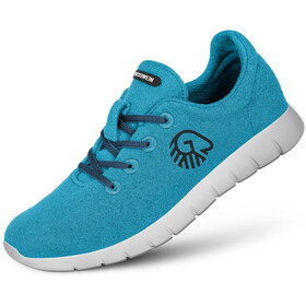 Giesswein Merino Wool Runners Women cyan blue